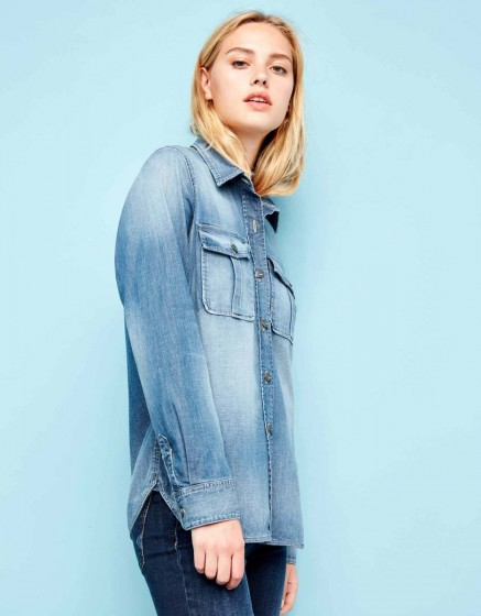 Denim shirt Camille - DENIM BLUE