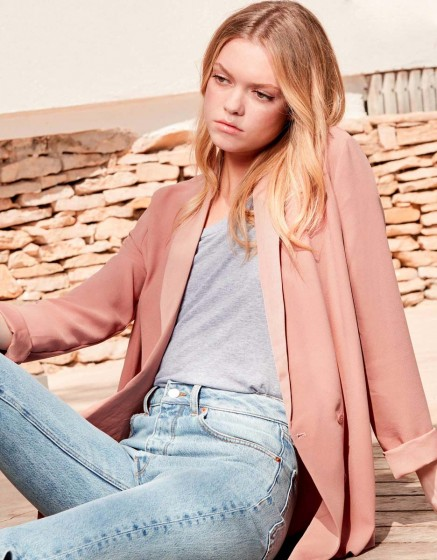 Blazer jacket Victoire - OLD ROSE