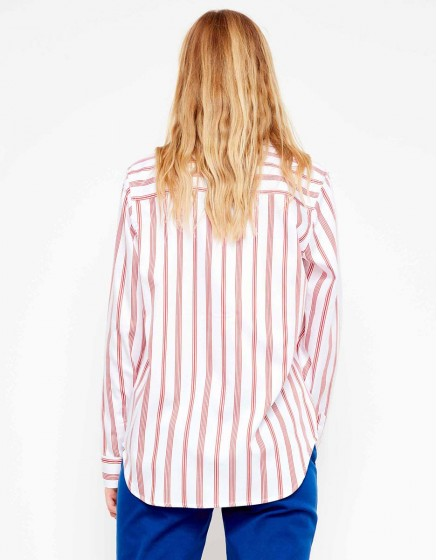 Chemise Carlo Printed - STRIPES RED