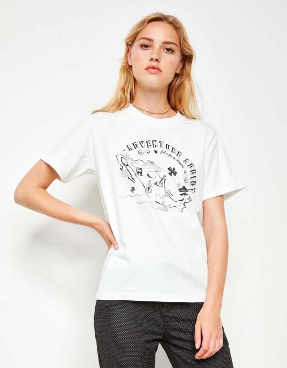 Tee-shirt Travis Printed - OFF WHITE