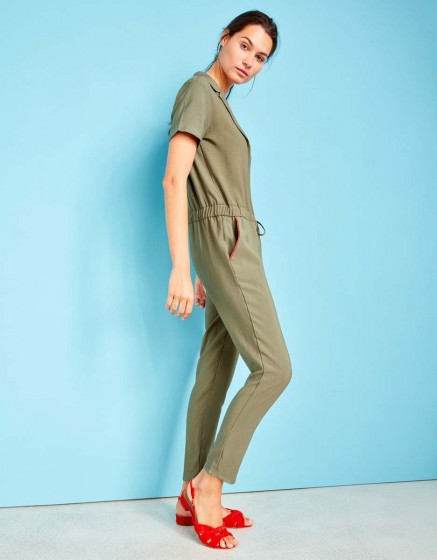 Jumpsuit Cary Color - KAKI