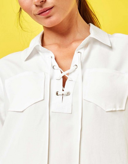 Shirt Caty Color - WHITE