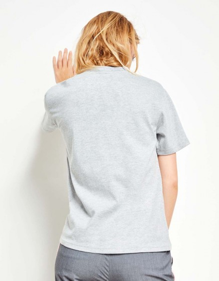 Tee-shirt Travis Brand - GRIS CHINE