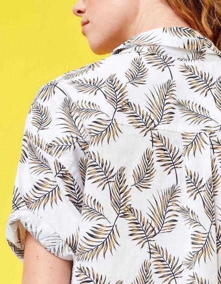Shirt Cléo Printed - LEAVES