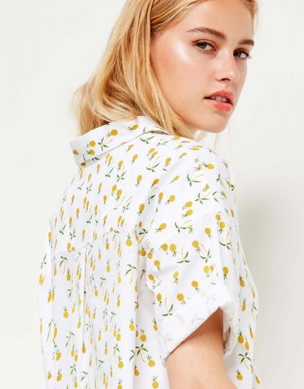 Shirt Cléo Printed - PINEAPPLE