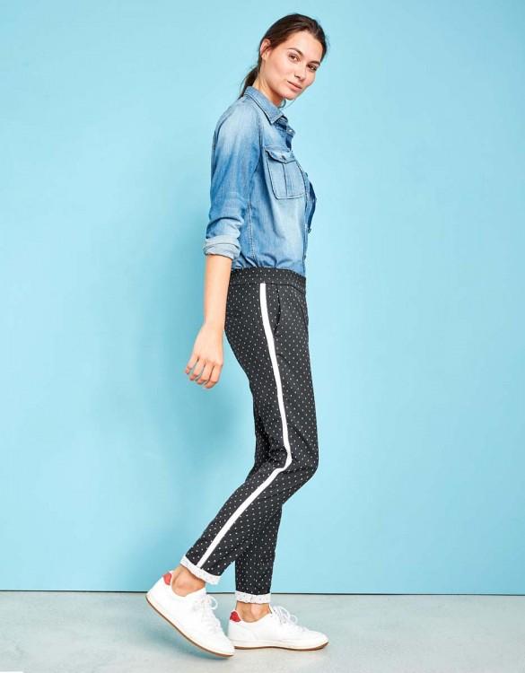 Street trousers Elvin Fancy - BLACK DOTS