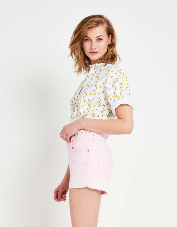 Colored Denim short Servane Vintage - ROSE