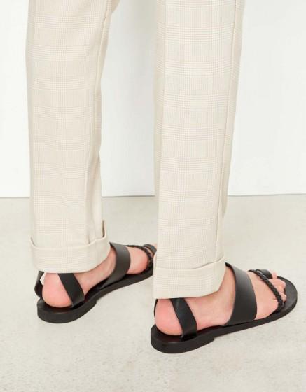 Cigarette Trousers Larson Fancy - CREAM TARTAN