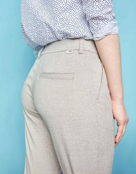 Cigarette Trousers Larson Fancy - GREY RAFIA