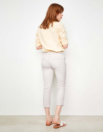 Cigarette Cropped Trousers Laura Fancy - PINK RAFIA