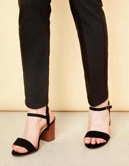 Pantalon cigarette Leon Color - BLACK