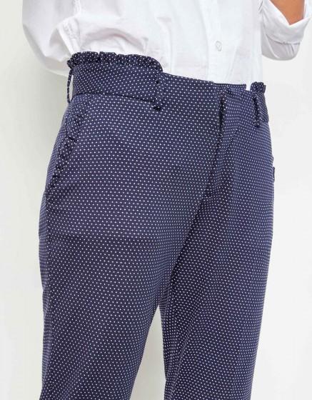 Cigarette Trousers Leon Fancy - DARK NAVY HEARTS