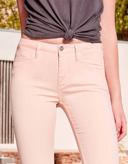 Skinny cropped trousers Lily Color - POUDRE