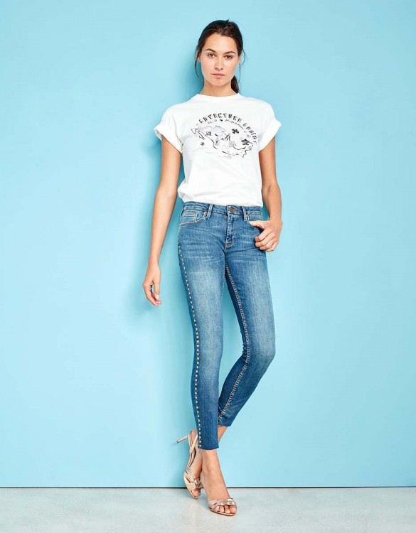 Skinny cropped jean Lily Studs - DNM M-82