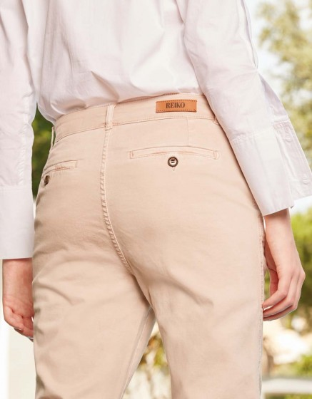 Chino tapered Trousers Scott - ALMOND
