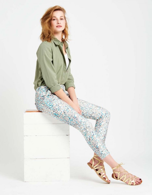 Pantalon chino Sandy Skinny Printed - SCALE BLUE