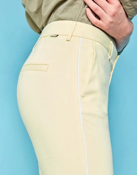 Pantalon Cigarette Lizzy Color - LIGHT CITRUS PIPING