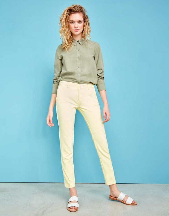 Pantalon Cigarette Lizzy Color - LIGHT CITRUS PIPING