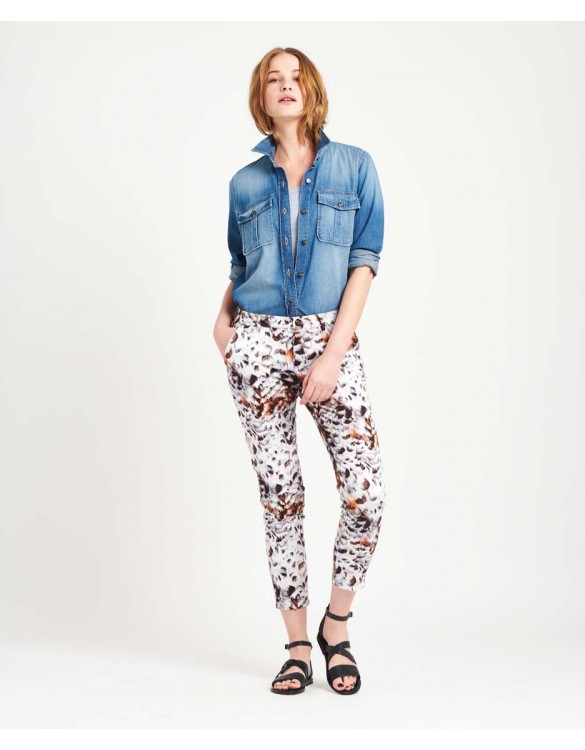 Chino Trousers Sandy Skinny Printed - FEATHER