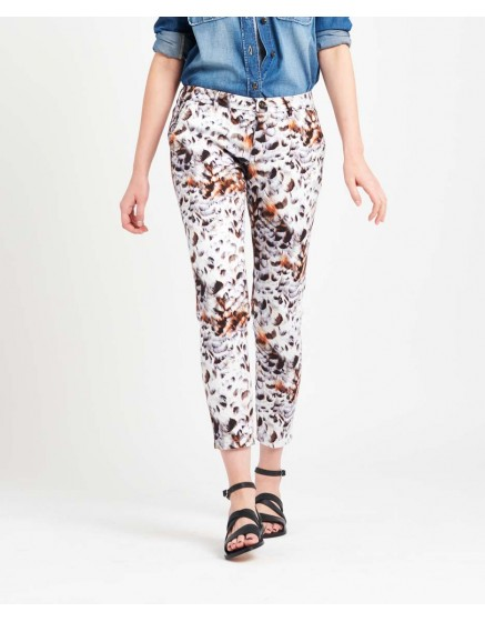 Pantalon chino Sandy Skinny Printed - FEATHER