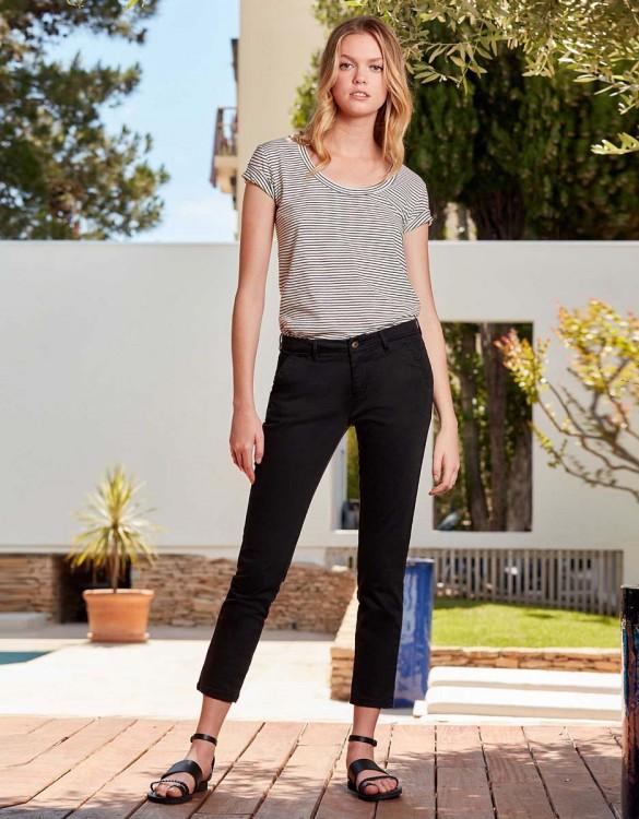 Chino Trousers Sandy Skinny - BLACK