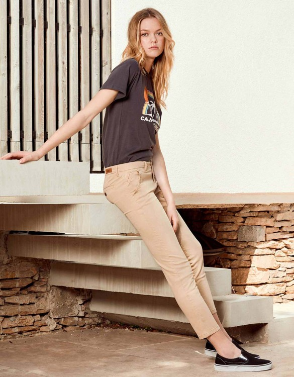 Chino Trousers Sandy Skinny - BEIGE