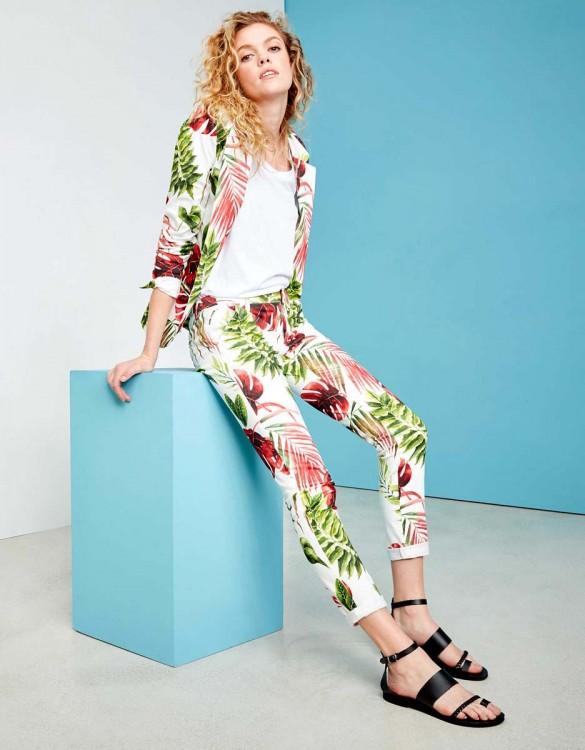 Pantalon chino Sandy Printed - WHITE TROPIC