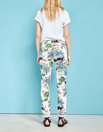 Pantalon chino Sandy Printed - DAHLIA