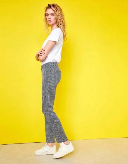 Pantalon cigarette Lizzy Fancy - INDIGO SQUARES