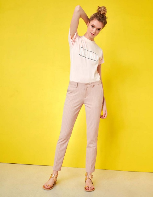Cigarette Trousers Lizzy Fancy - PINK STRIPES