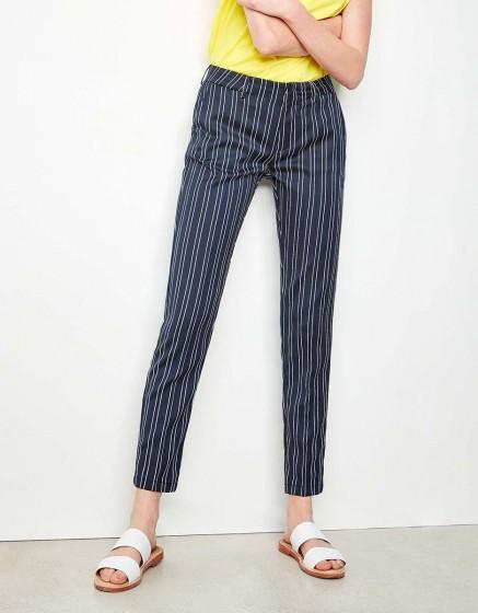 Cigarette Trousers Lizzy Fancy - SEA STRIPED