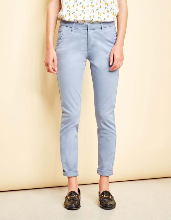 Chino Trousers Sandy - SILVER BLUE