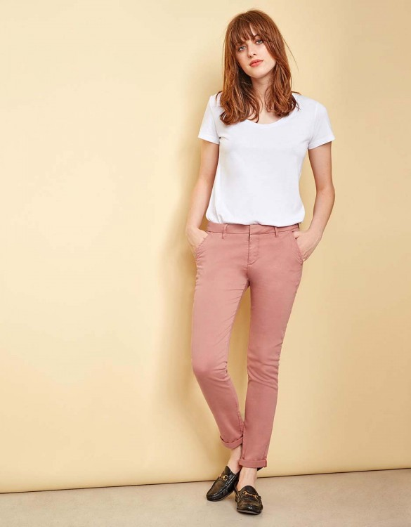 Chino Trousers Sandy - OLD ROSE