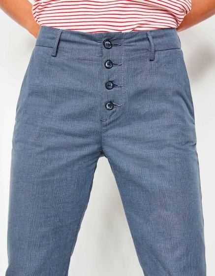 Pantalon cigarette Lucien Fancy - INK CHECKED