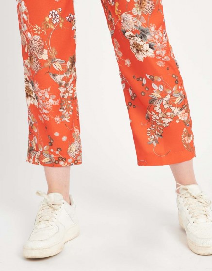 Pantalon straight cropped Luis Printed - SUN FLOW
