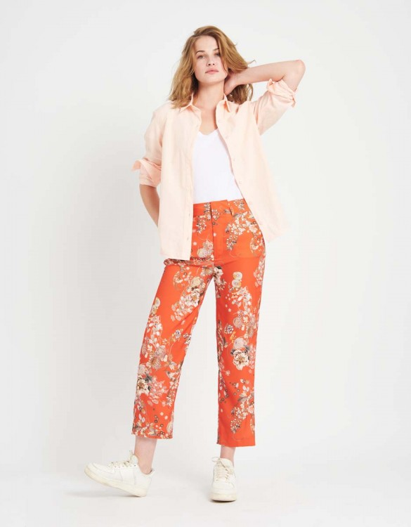 Pantalon straight cropped Luis Printed - SUN FLOW