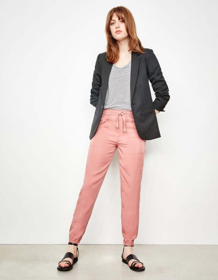 Street trousers Ryan - OLD ROSE