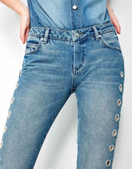 Straight cropped jean Preston holes - DNM M-85