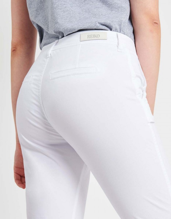 Light Chino trousers Pam - WHITE