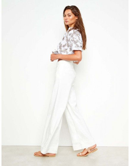 Wide trousers Pamelo Color - WHITE