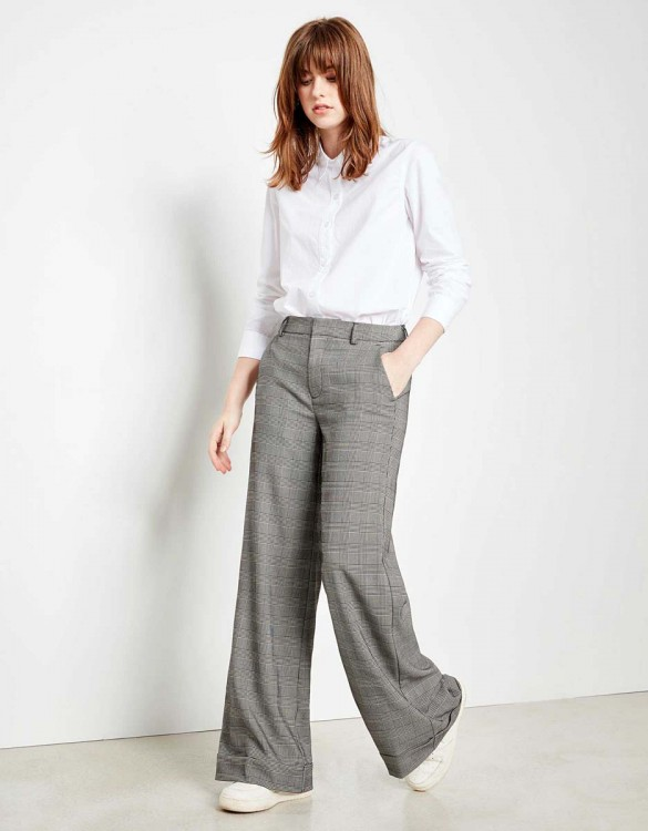 Wide trousers Pamelo Fancy - TARTAN