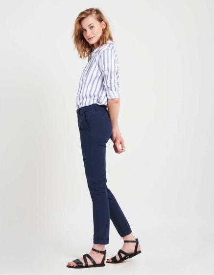 Light Chino trousers Pam - DARK NAVY
