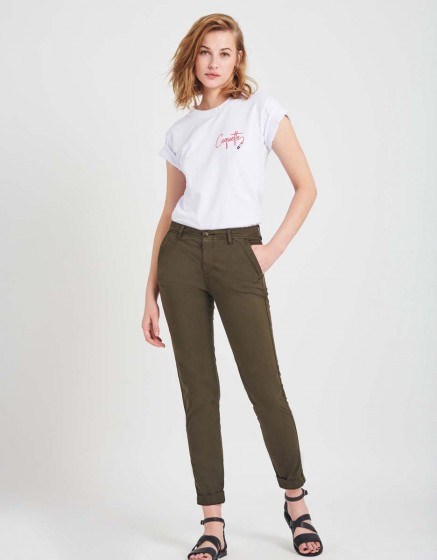 Pantalon chino léger Pam - DARK KAKI