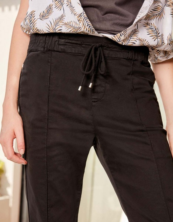 Street trousers Elly - BLACK