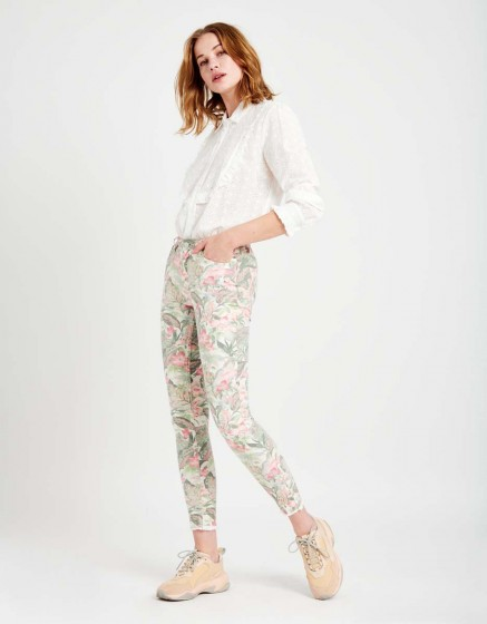 Skinny cropped trousers Lily Printed - BAY FLOWER