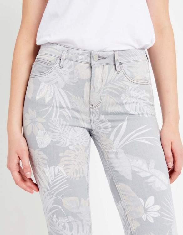 Pantalon skinny cropped Lily Printed - TROPIC STORM