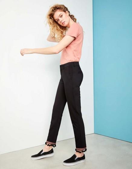 Cigarette Trousers Lizzy Boho - BLACK