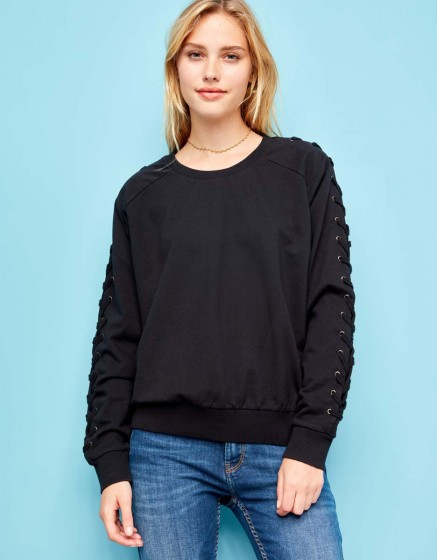 Pearly Rope sweat - BLACK