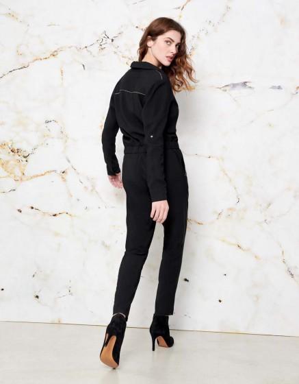 Jumpsuit Clayton color - BLACK