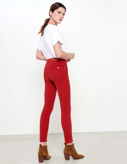 Skinny cropped trousers Lily Velvet - TERRE ROUGE